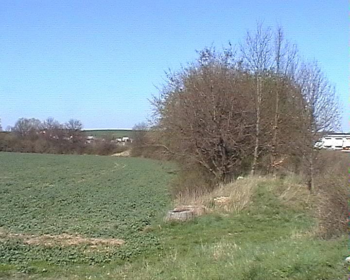 Der ehemalige Bahndamm